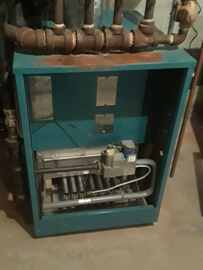 Hudson, MA - Repair on a Burnham gas heating unit
