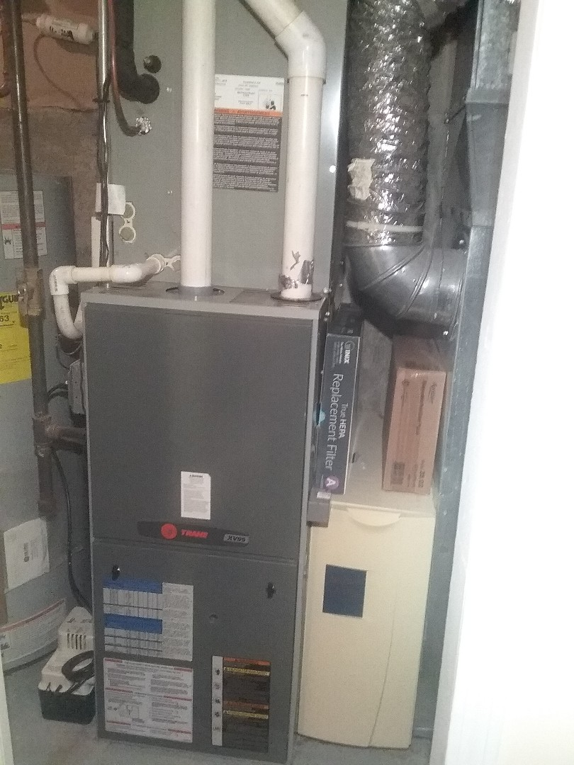 Performed preventive maintenance procedures on trane nat gas furance and air conditioning system