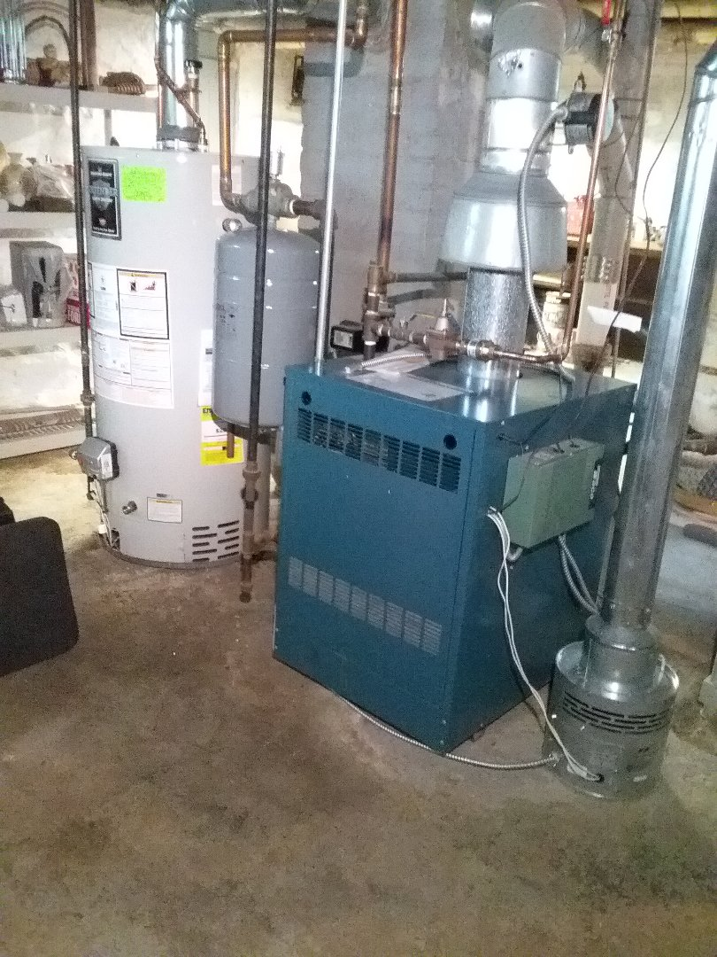 Auburn, MA - Performed preventive maintenance procedures on Burnham nat gas boiler and Bradford white water heater