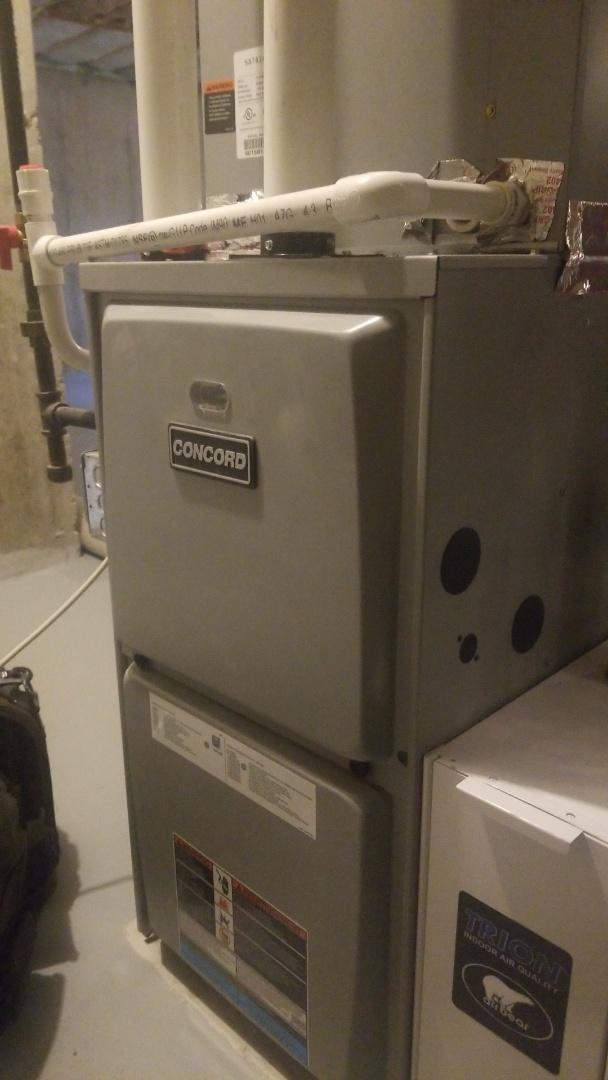 Millbury, MA - Service on a Concord gas furnace
