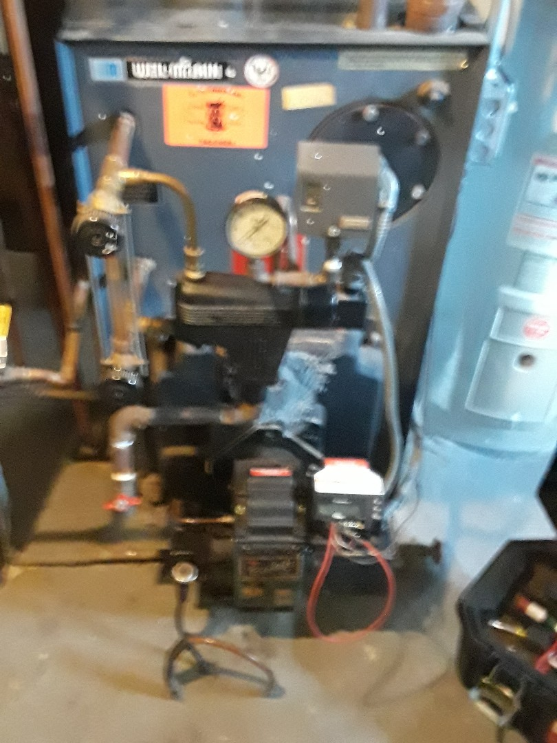 Leominster, MA - Clean and check Weil McLain oil steam boiler