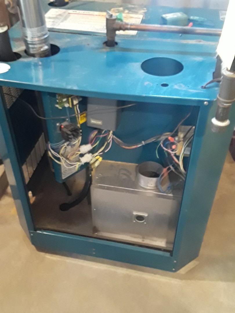 Repair on a Burnham gas boiler