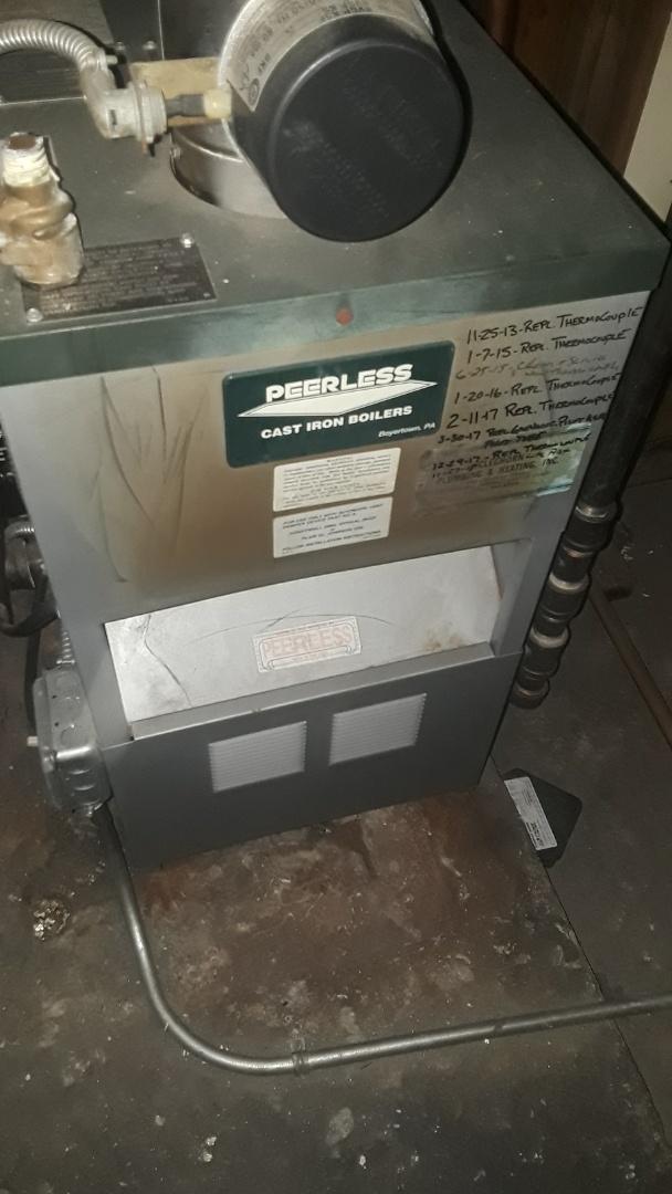 Leominster, MA - Repair on Peerless gas boiler