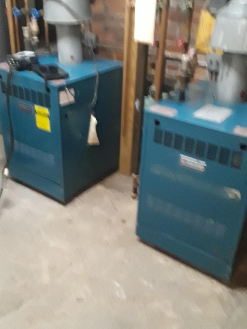 Fitchburg, MA - Clean and check Burnham gas boilers