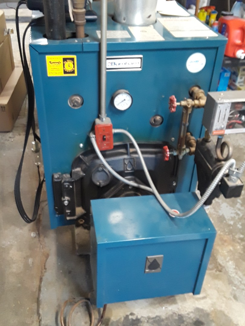 Lunenburg, MA - Clean and check Burnham oil steam boiler