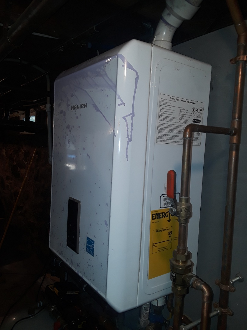 Clean and check Navien gas boiler