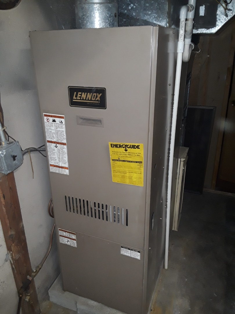 Lunenburg, MA - Clean and check Lennox oil heating unit