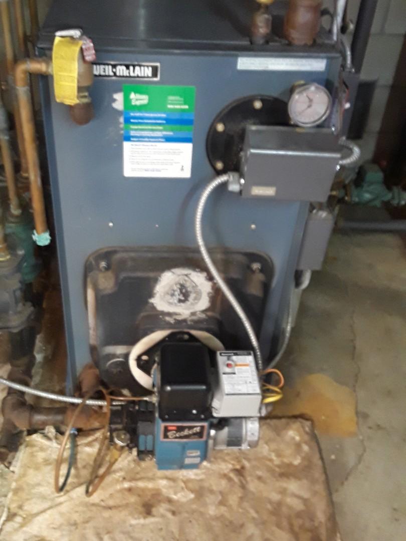 Acton, MA - Repair on a Weil Mclain oil boiler