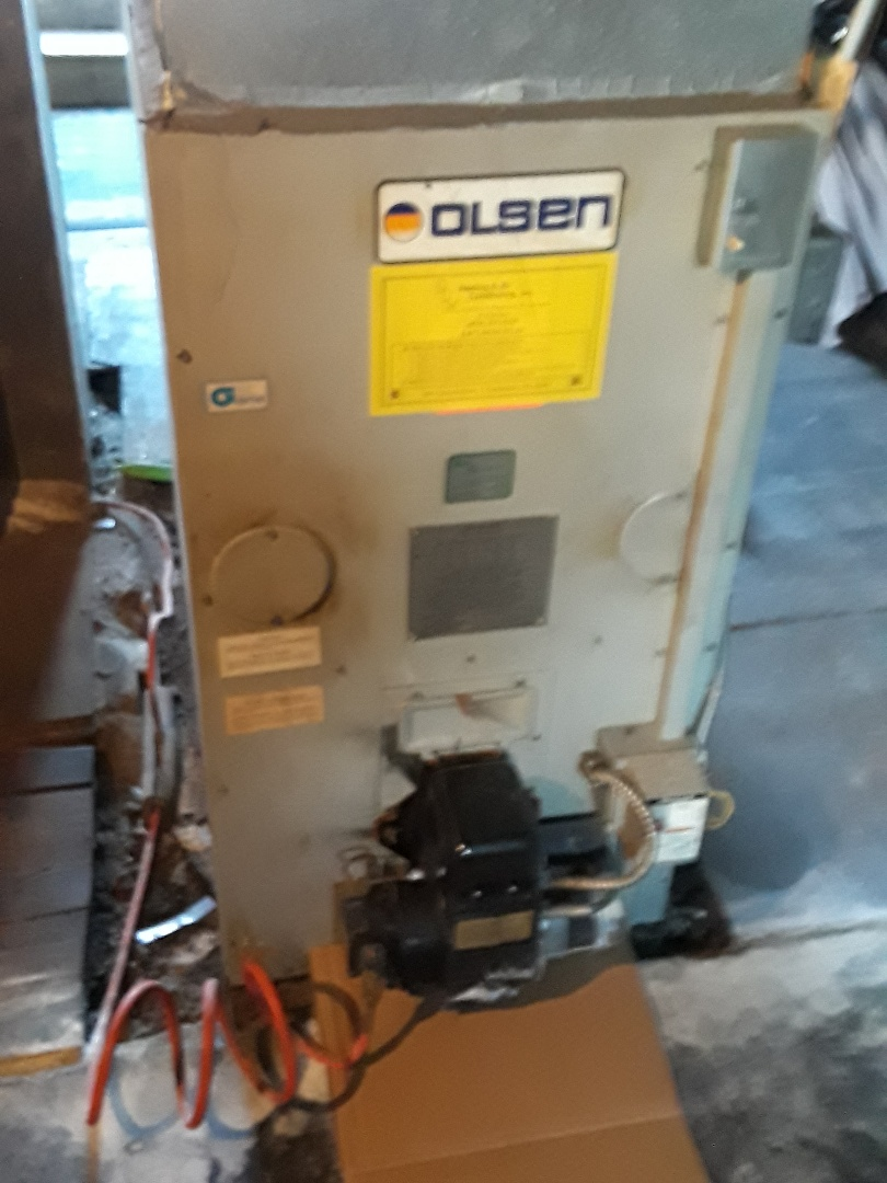 Leominster, MA - Clean and check Olsen oil furnace