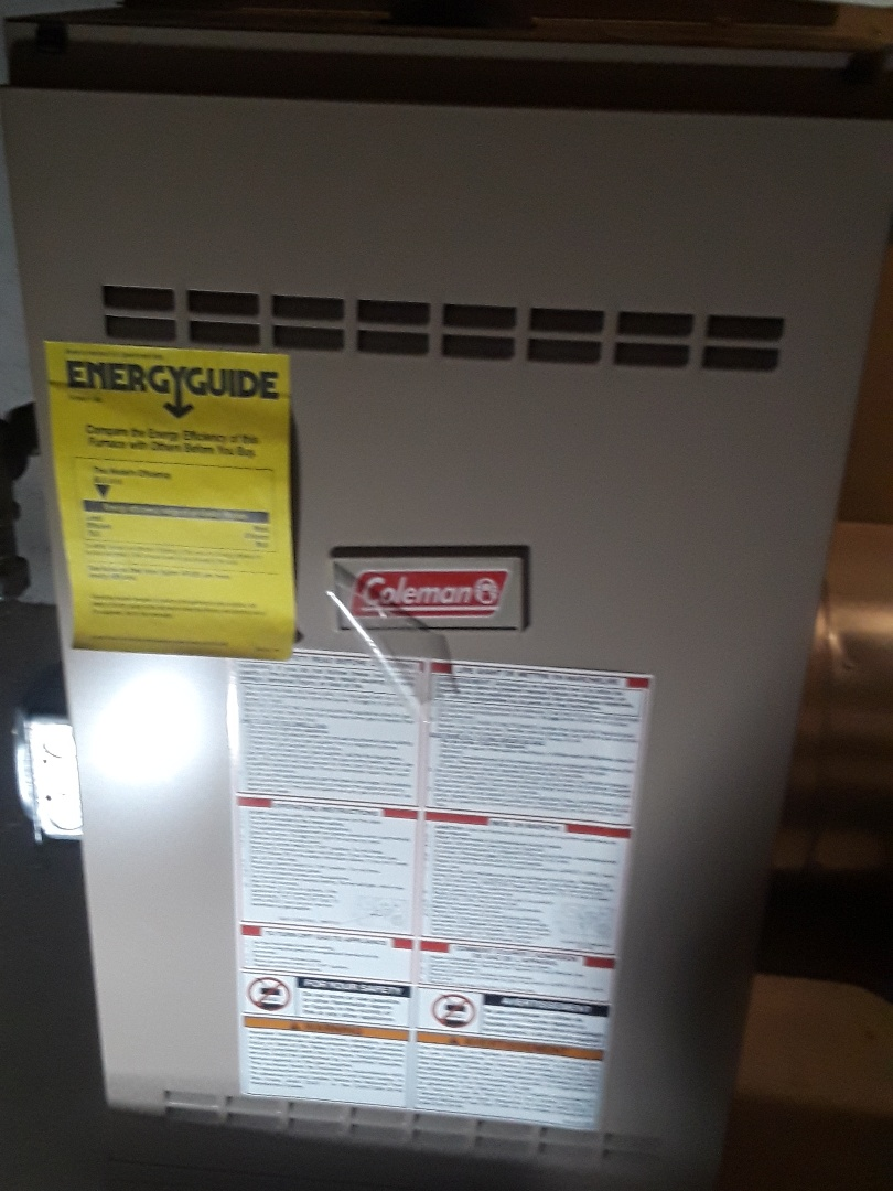 Fitchburg, MA - Repair on a Coleman gas furnace