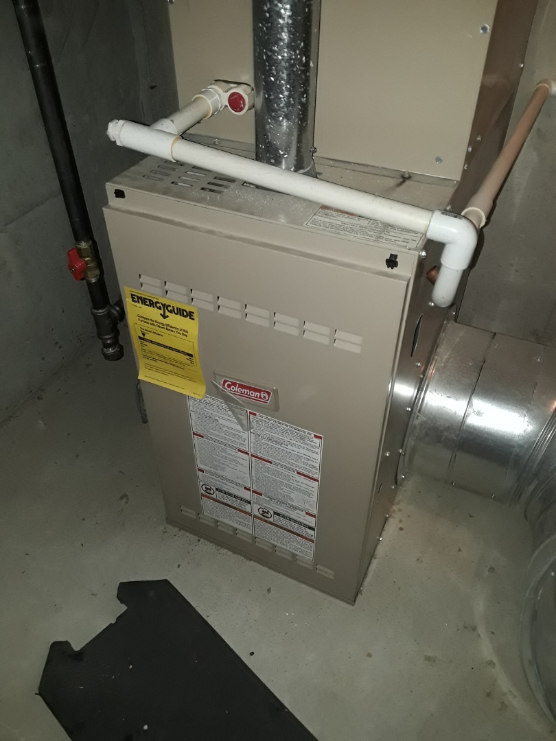 Leominster, MA - Repair on a Coleman gas Furnace
