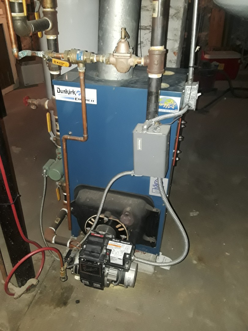 Clinton, MA - Clean and check Dunkirk oil boiler
