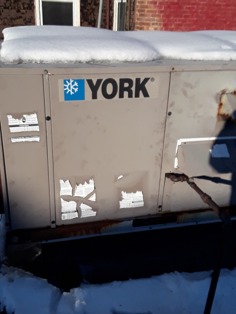 Repair on a York rooftop unit