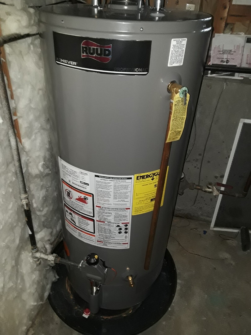 Repair on a Rheem gas water heater