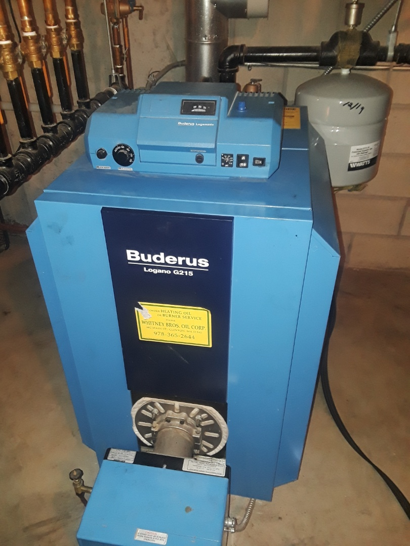 Clean and check Buderus oil boiler
