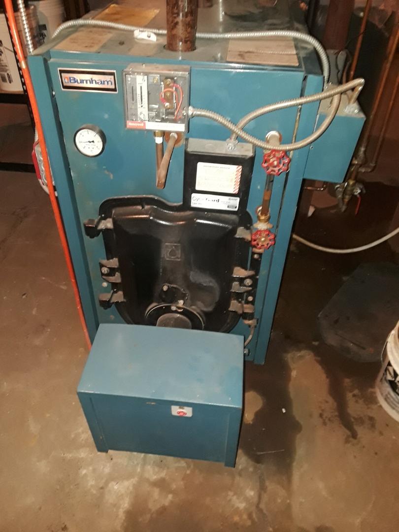 Fitchburg, MA - Repair on a  Burnham oil boiler