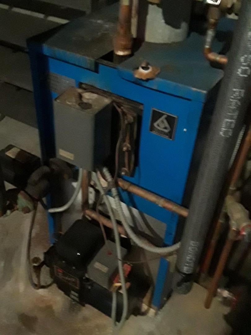 Repair on a Trianco oil boiler