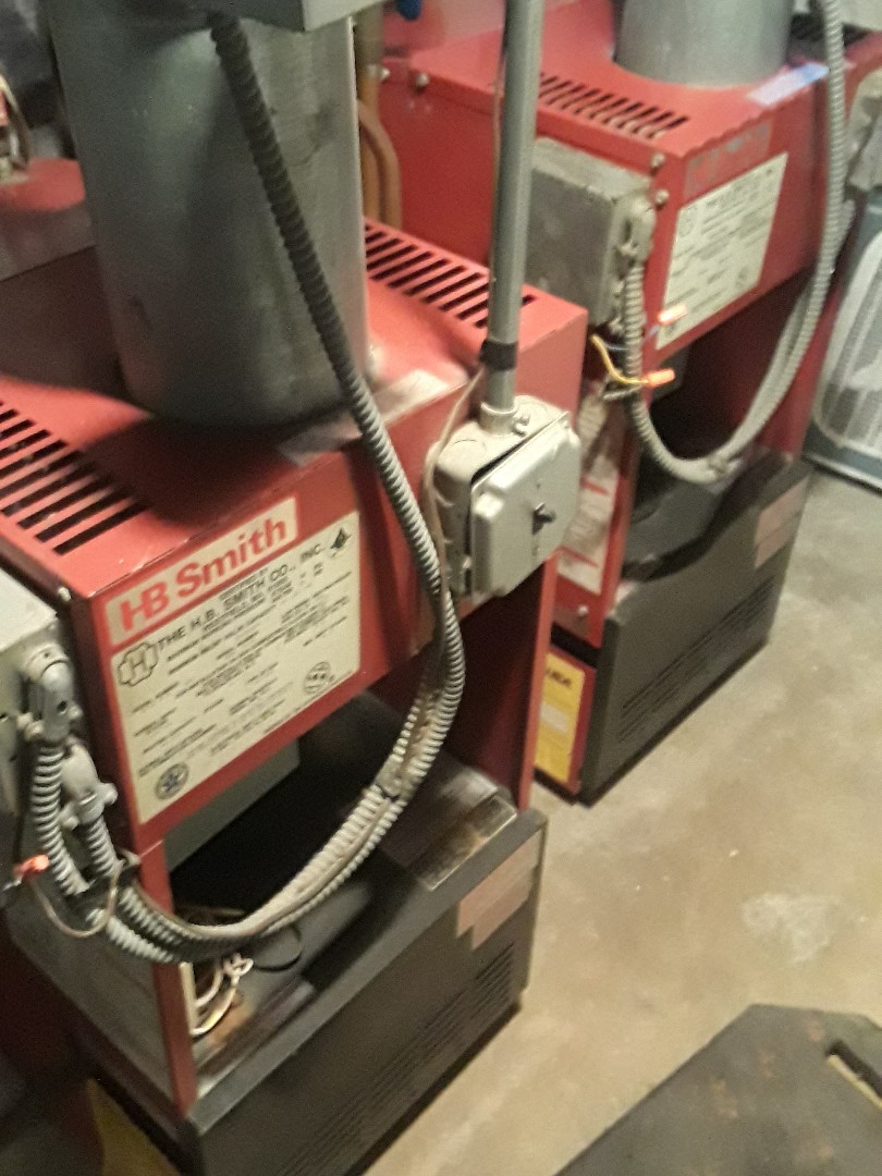 Clean and check HB Smith heating units