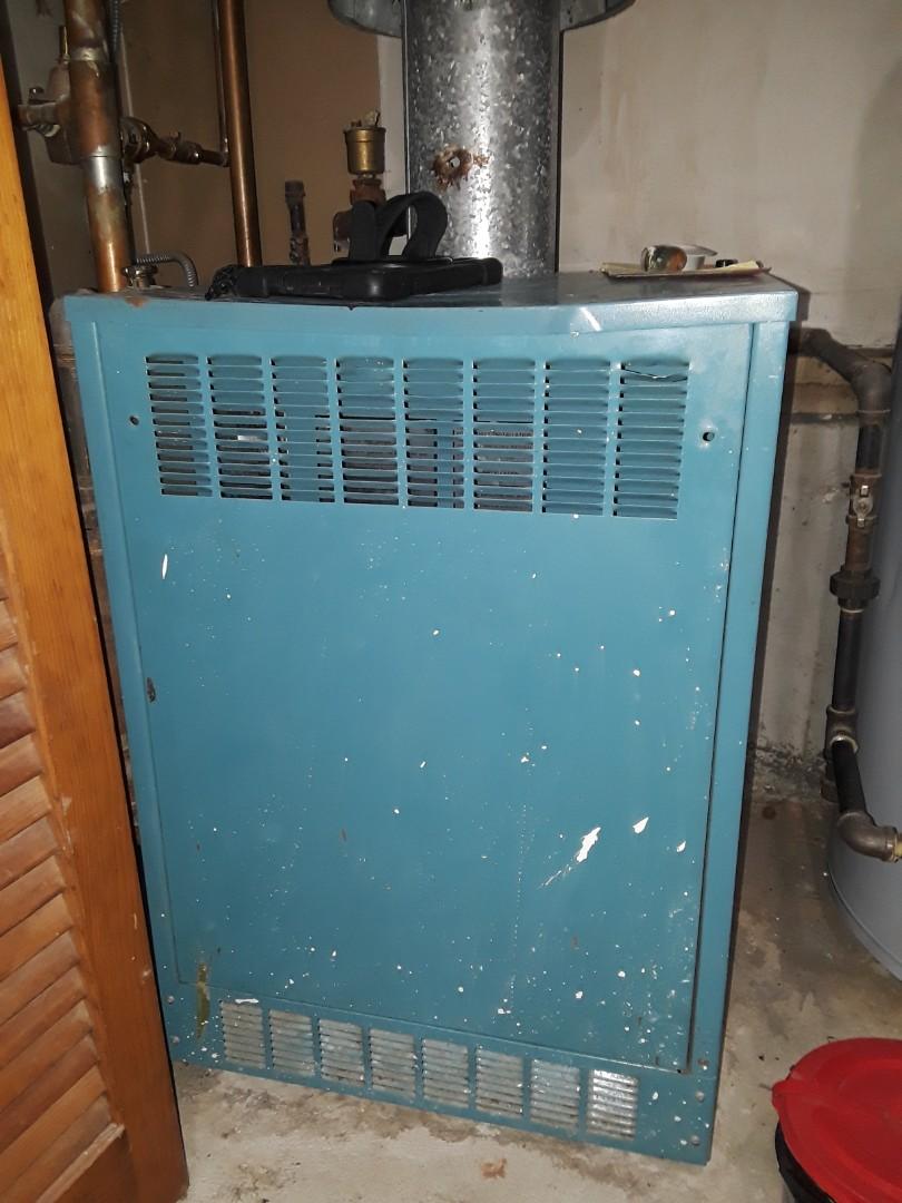 Clean and check Burnham gaa boiler