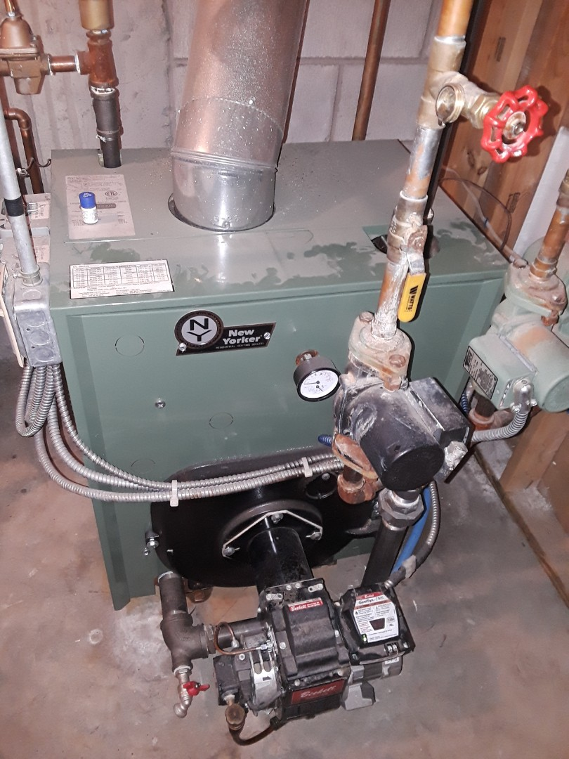 Repair on a New Yorker oul boiler