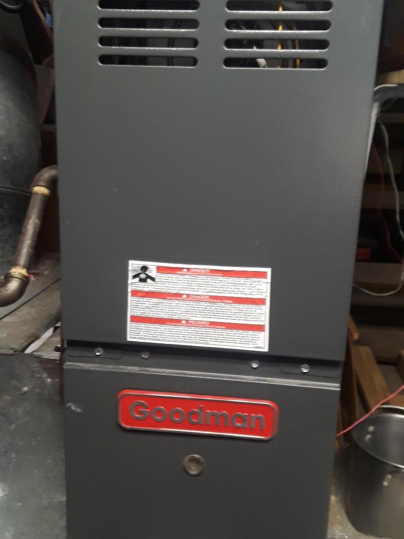 Fitchburg, MA - Repair on a Goodman gas furnace