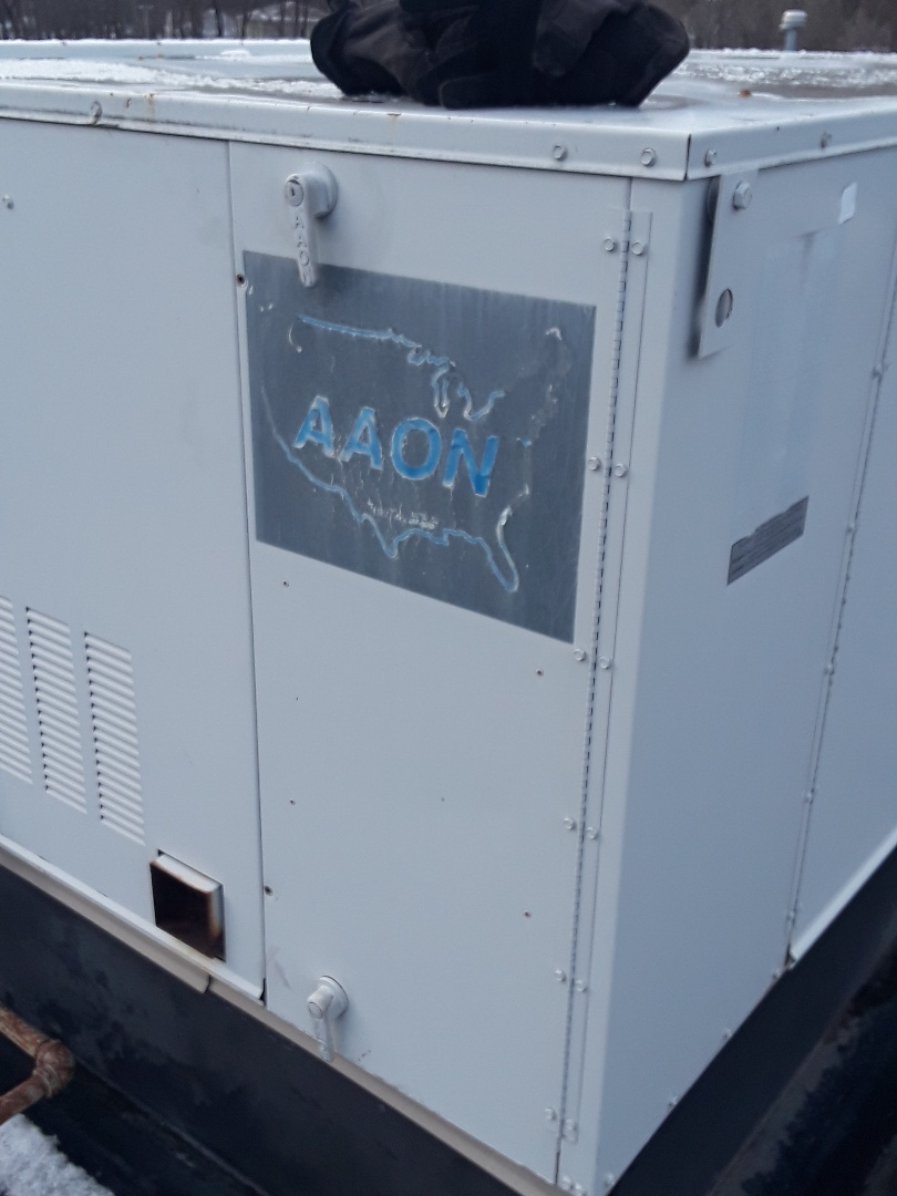 Fitchburg, MA - Repair on a Aaon rooftop unit