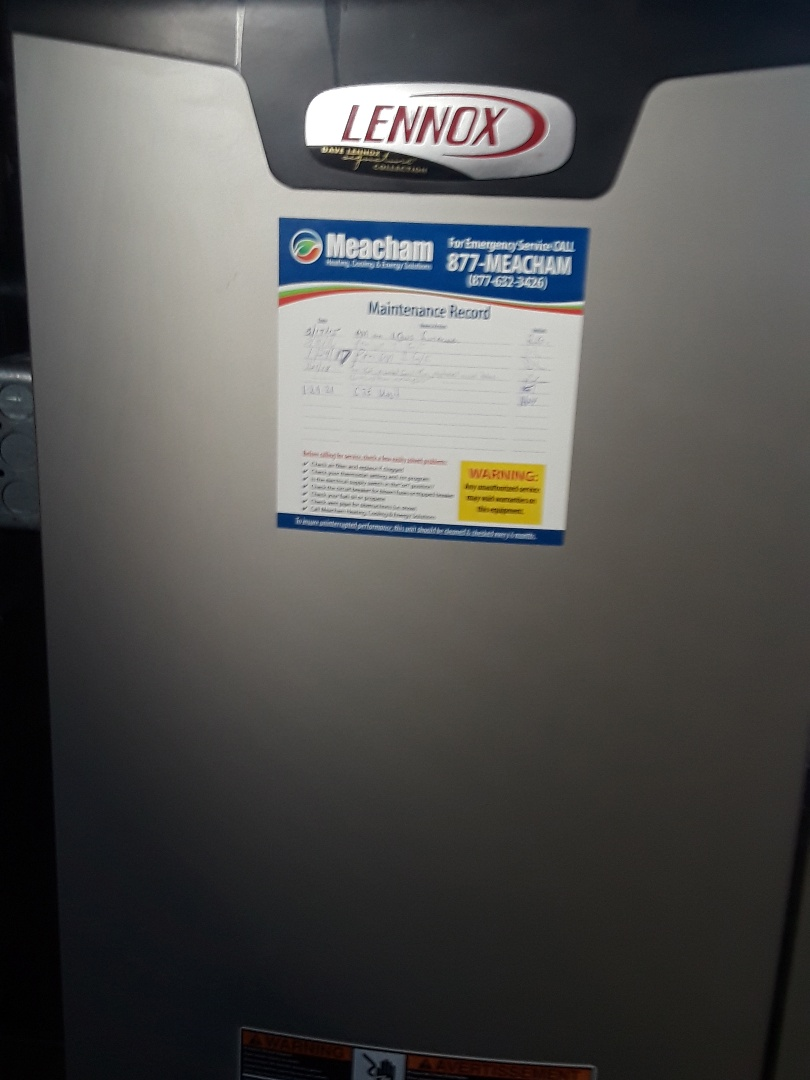 Spencer, MA - Clean and check Lennox gas heating unit