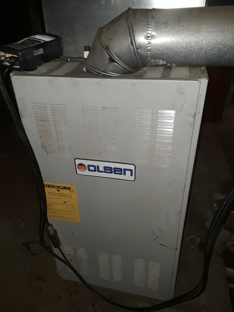 Fitchburg, MA - Clean and check Olsen oil furnace