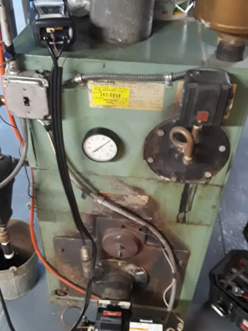 Leominster, MA - Clean and check Peerless oil steam boiler