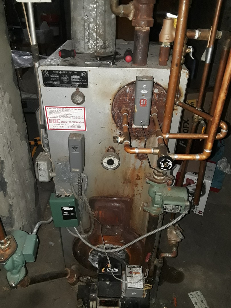Fitchburg, MA - Repair on an American standard oil heating unit