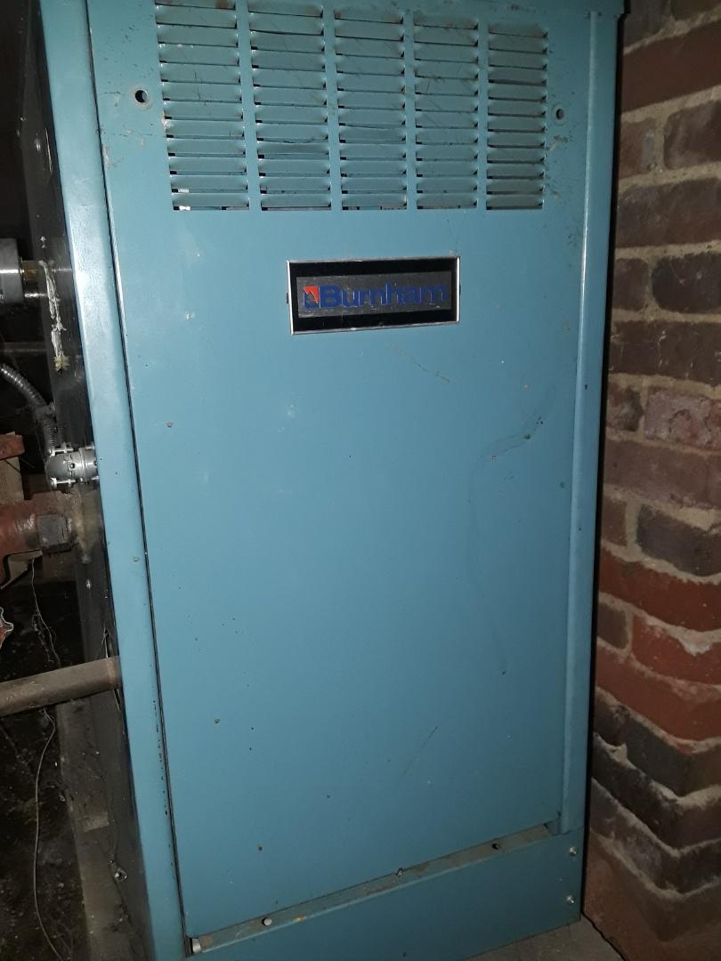 Clinton, MA - Repair on a Burnham gas boiler