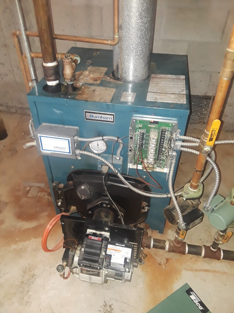 Bolton, MA - Clean and check Burnham oil heating unit