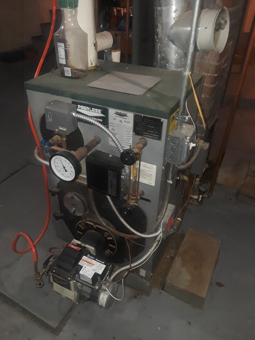 Leominster, MA - Repair on a Peerless oil steam boiler