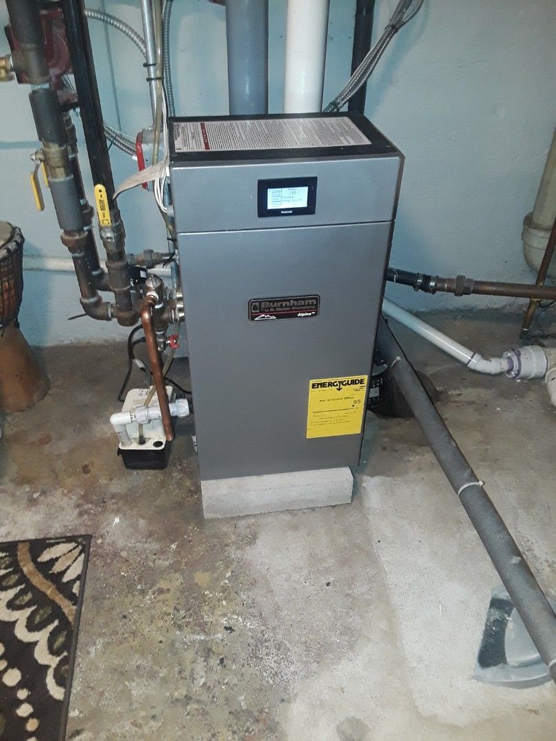 Leominster, MA - Clean and check Burnham Alpine condensing gas boiler