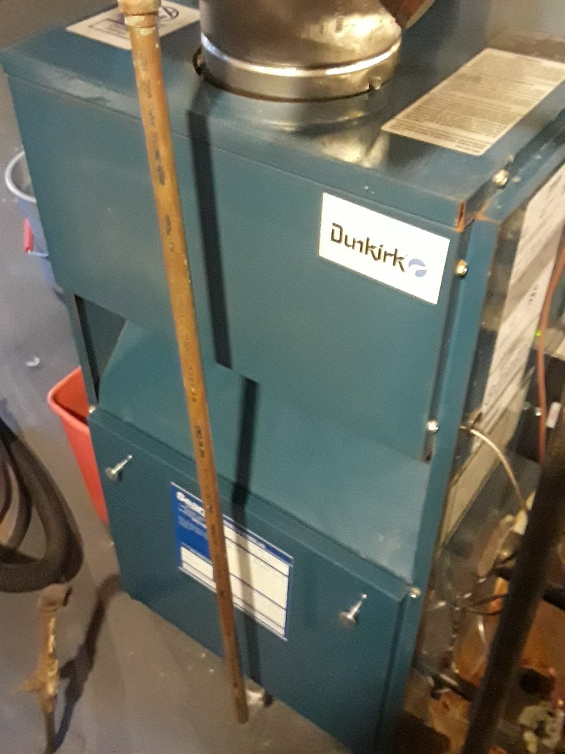 Clean and check Dunkirk gas boiler