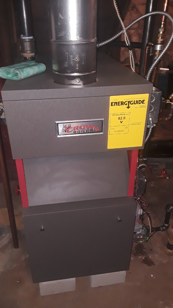 Sterling, MA - Clean and check Crown gas steam boiler