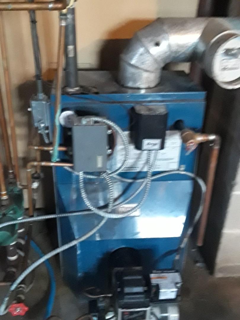 Fitchburg, MA - Repair on a Utica oil boiler