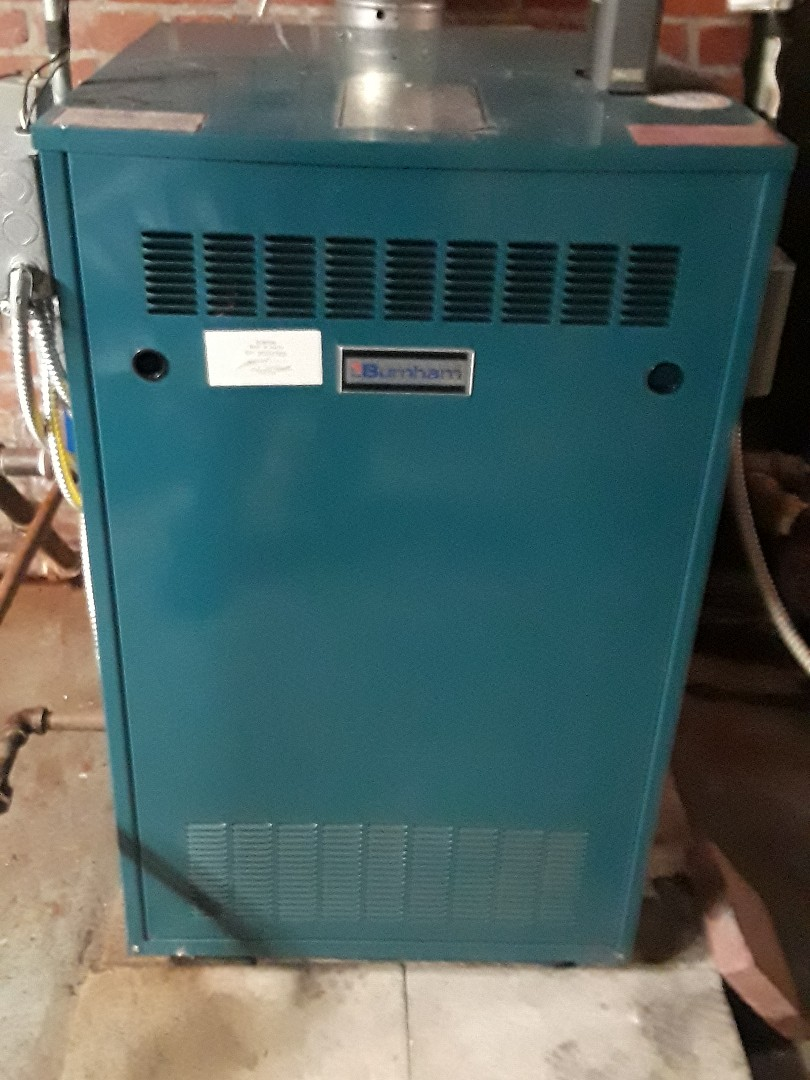 Clinton, MA - Repair on a Burnham gas steam boiler