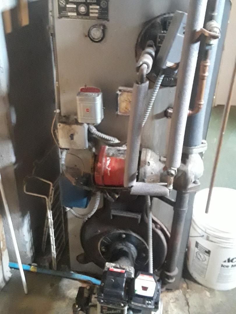 West Boylston, MA - Repair on an American standard oil heating unit