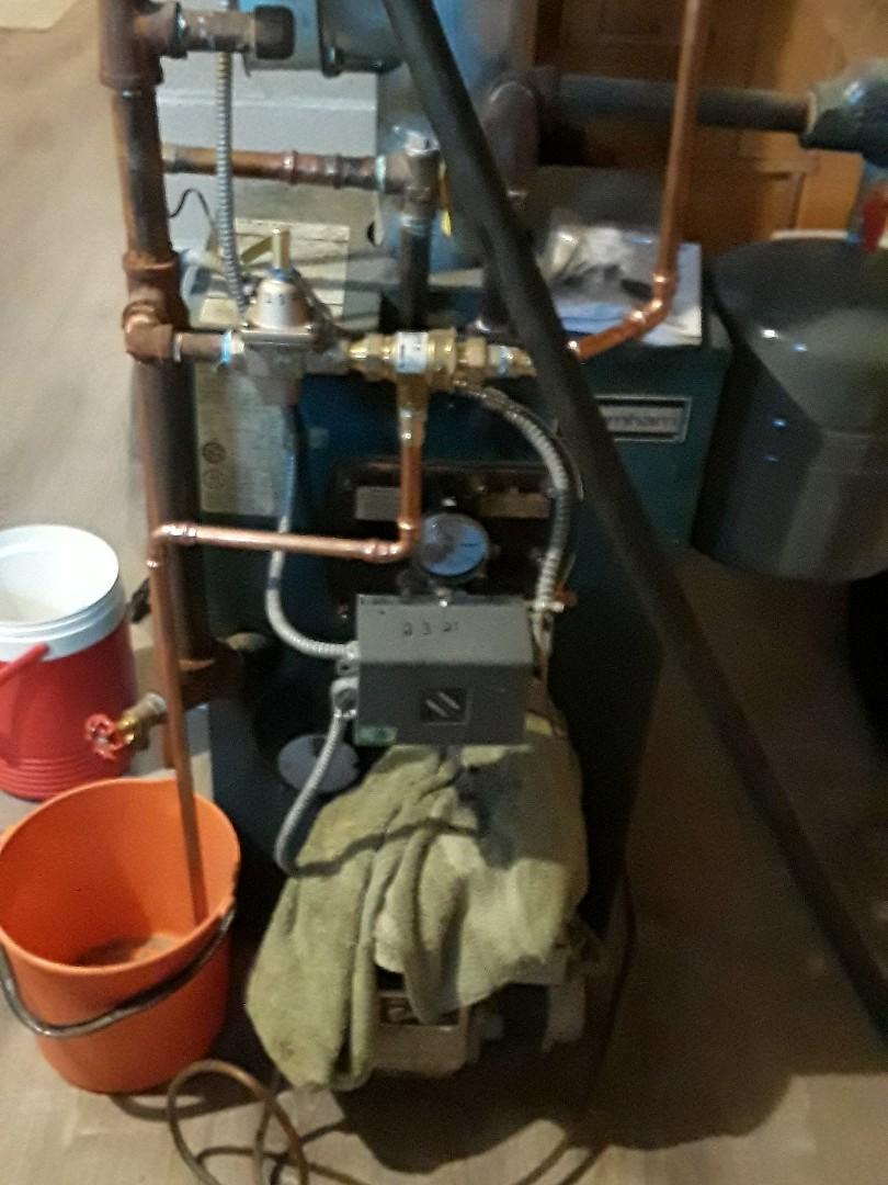 Auburn, MA - Tankless repair on a Burnham oil fired boiler
