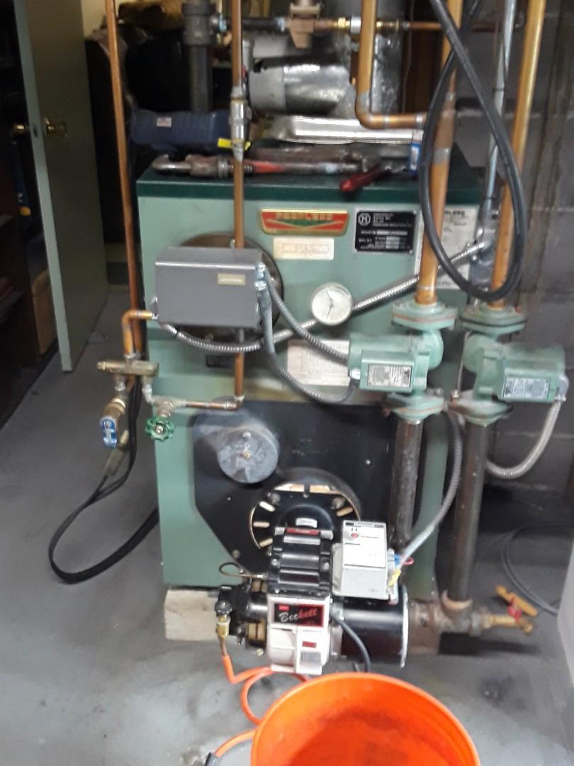 Lunenburg, MA - Clean and check Peerless oil boiler