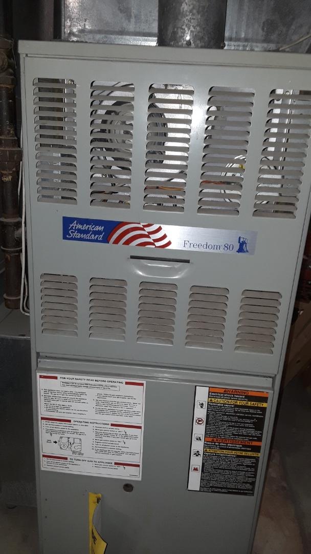 Worcester, MA - Repair on an American Standard gas furnace