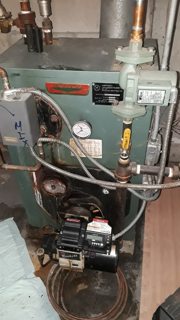 Sterling, MA - Repair on a Peerless oil boiler