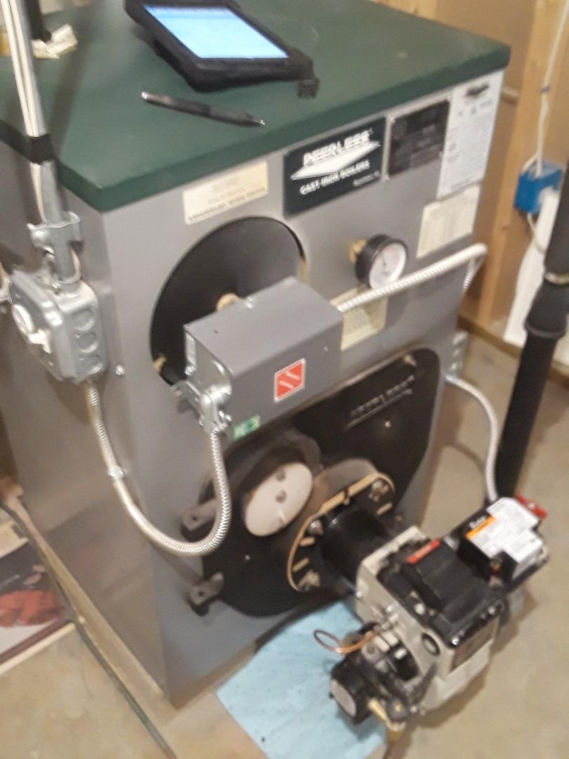 Sterling, MA - Repair on a Peerless oil heating unit
