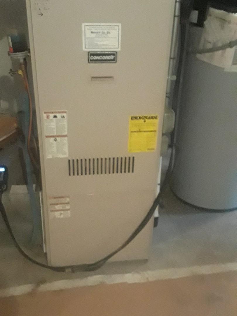 Auburn, MA - Clean and check Concord oil furnace