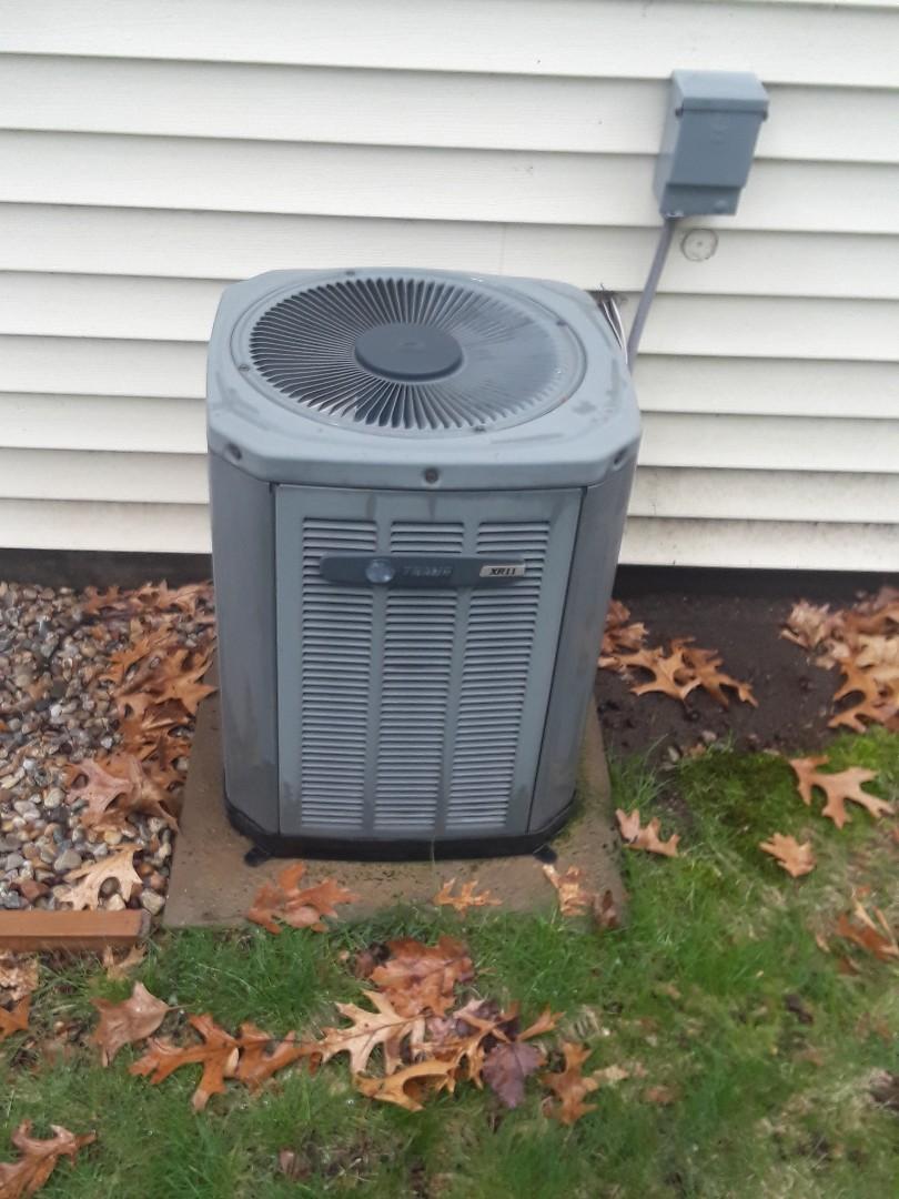 Hudson, MA - Clean and check Trane AC unit