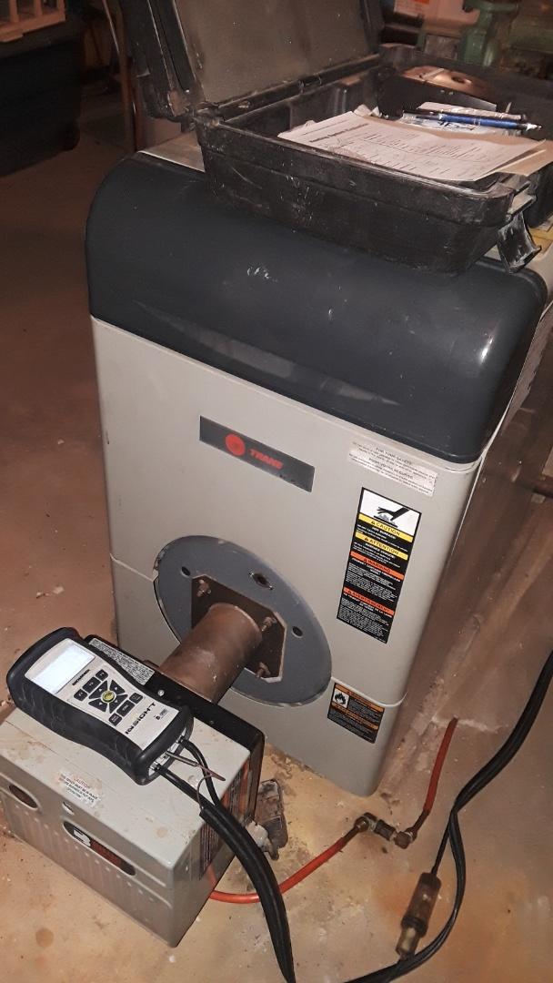 Fitchburg, MA - Clean and check Trane oil boiler