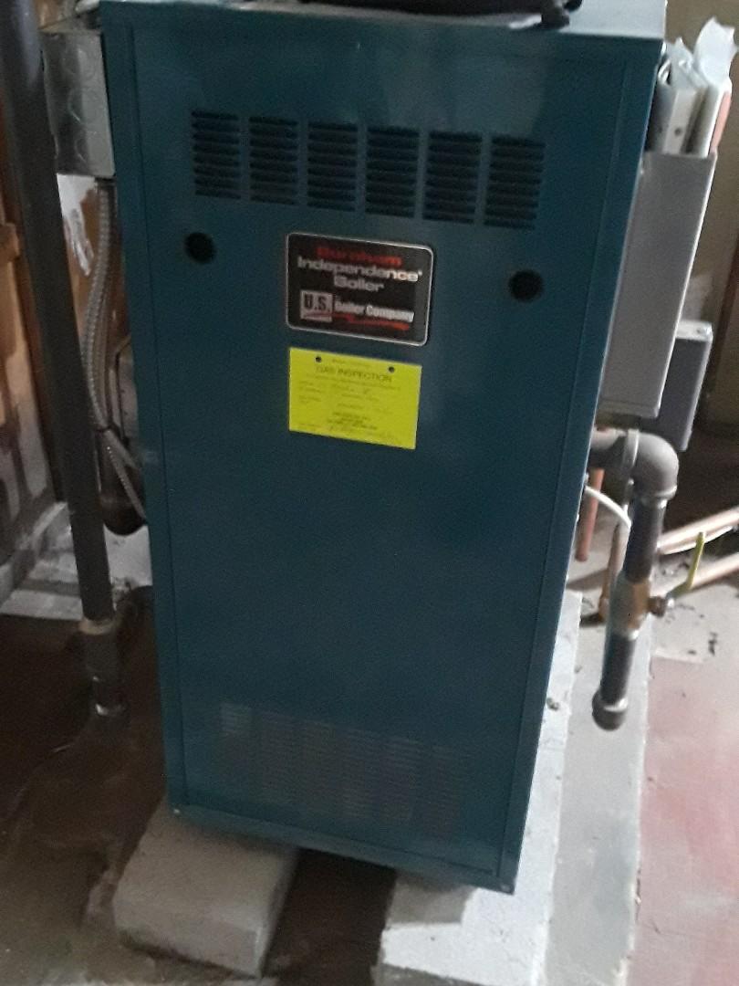 Uxbridge, MA - Repair on a Burnham gas boiler