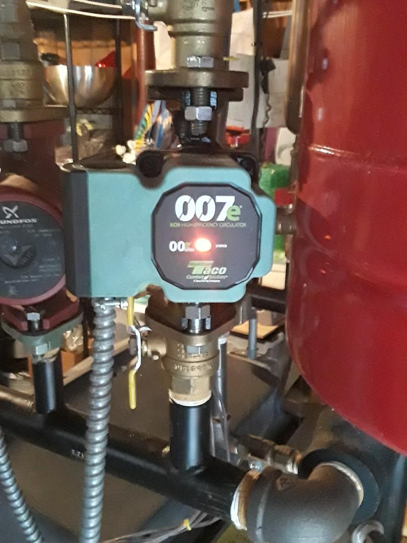 Leominster, MA - Taco 007e Circulator pump replacement