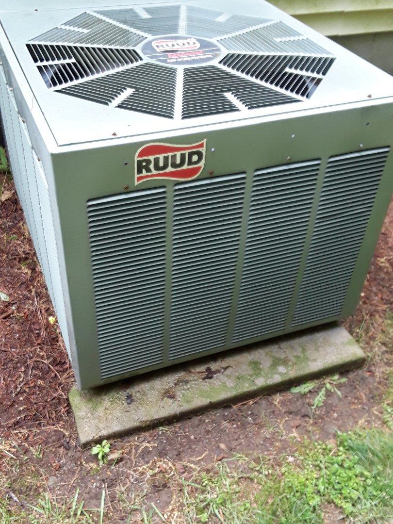 Auburn, MA - Clean and check Ruud AC unit